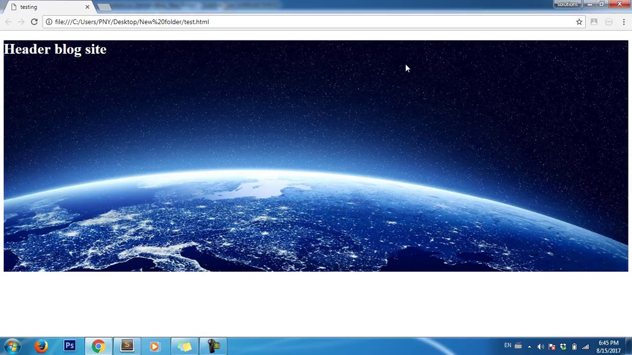 Background image header css - Background Img Css