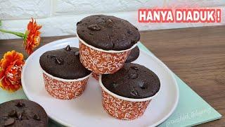 Punya 1 Telur di buat Resep muffin coklat tanpa mixer, Lembut & Anti Gagal
