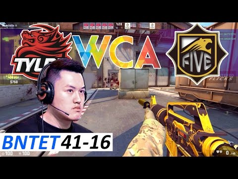 BnTeT 41-16 POV / FIVE vs TyLoo / Train / CS:GO WCA 2017 Chi