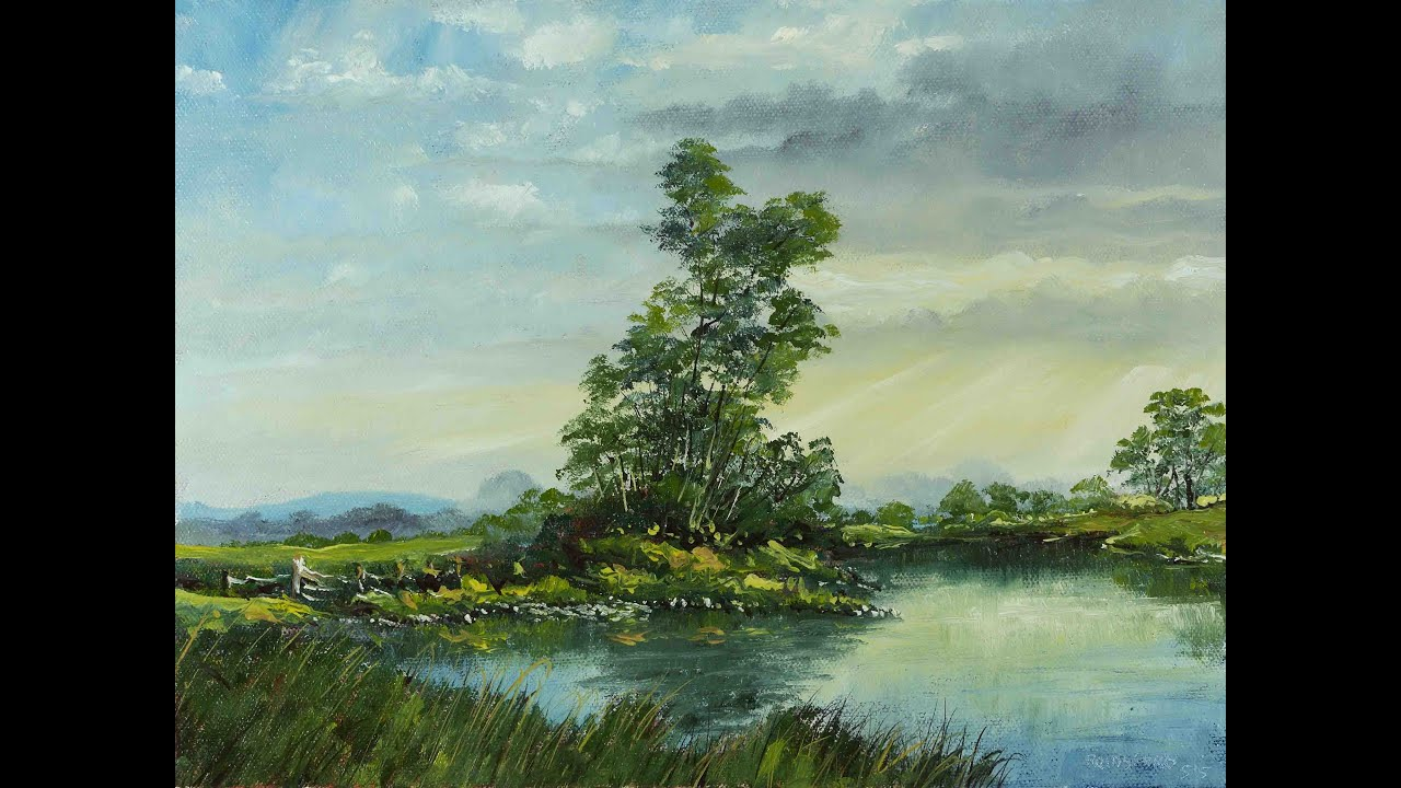 Youtubbe Oil Painting Evergreen