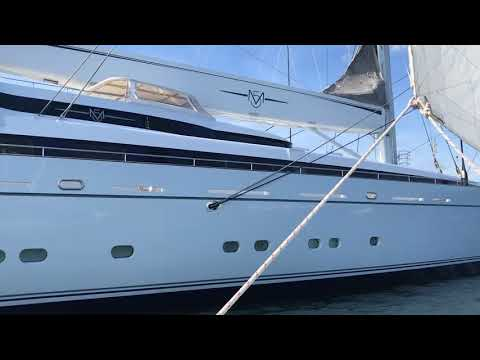 Super yacht docked in Portland Harbor among world's largest