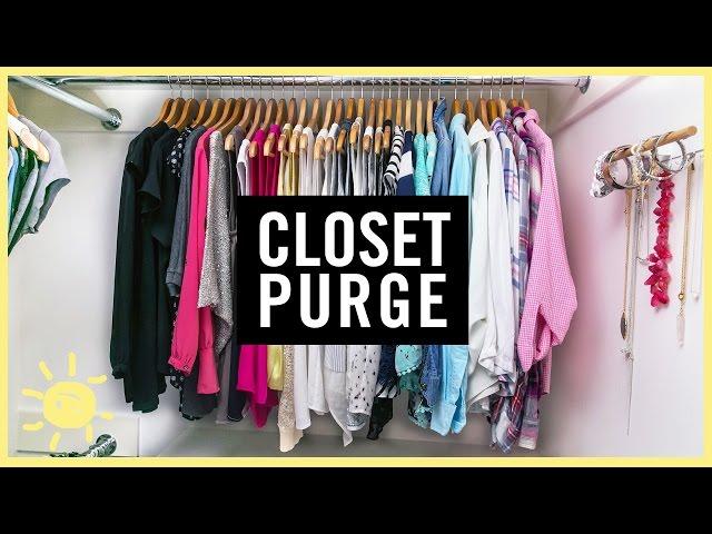 ORGANIZE   1 DAY CLOSET PURGE!