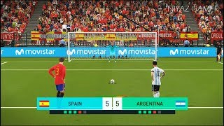 SPAIN vs ARGENTINA | Penalty Shootout | PES 2018 Gameplay PC