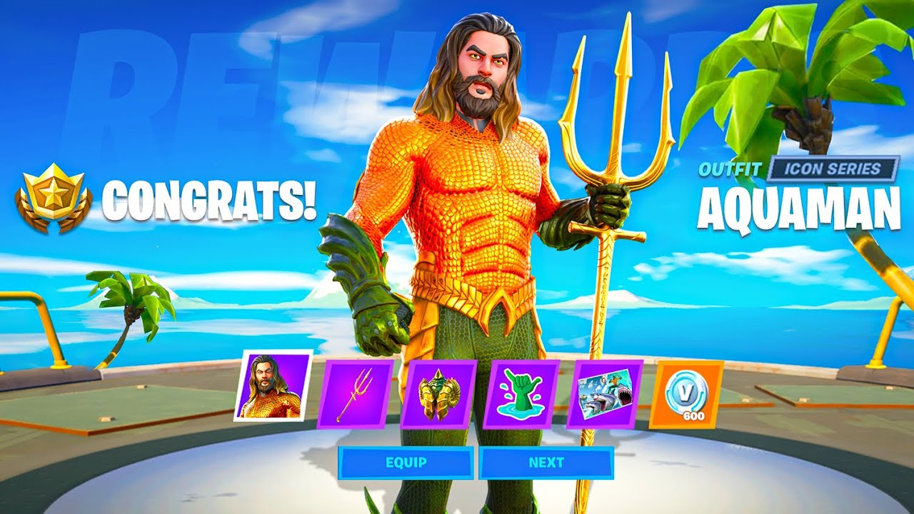 AQUAMAN *SECRETS* in Fortnite! (Skins, Challenges, Mythic Weapon + MORE)