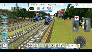 High Speed LHF WDP4 Rajdhani Express Brutal Overtake WDP4 Sealdah Express in Indian Train Simulator
