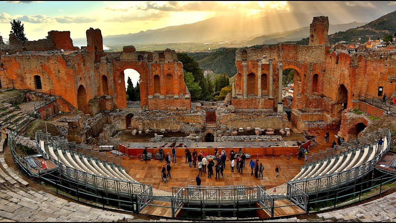 Image result for images of greek theater in taormina