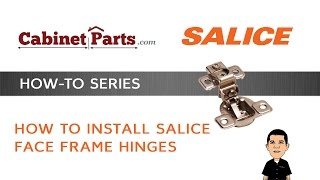 How to Install Salice Excenthree Faceframe Hinges - Cabinetparts.com