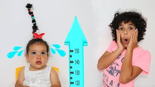 Baby amira Wants To Be Taller To Play with Ballpit Jumper Playhouse