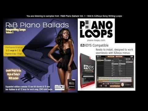 R&B piano ballads midi loops & toontrack ezkeys