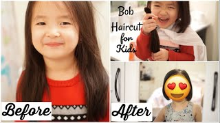 Nhật Ký Làm Mẹ: Lần Đầu Cắt Tóc Bob Cho Con Gái ♥ Bob haircut for toddler girl | mattalehang