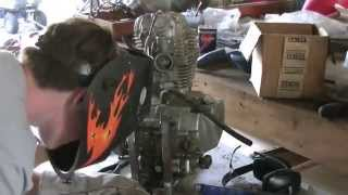 15 Hp 5-speed Go Kart Build Part 2- Engine Mounting Bracket
