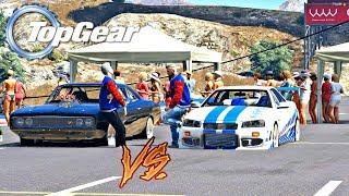 GTA V: TOP GEAR | SKYLINE do RD vs CHARGER, QUAL É O MAIS RÁPIDO?