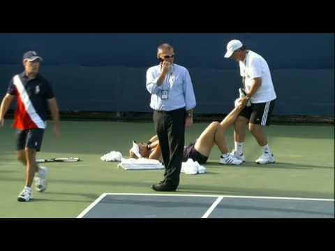 Sabine Lisicki Injured At 2009 US OPEN