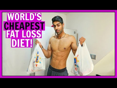 WORLD'S CHEAPEST BODYBUILDING GROCERY SHOPPING - FAT LOSS DIET