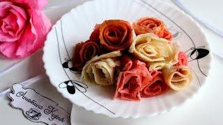 Розы из блинов на Масленицу \\ Как сделать розы из блинов