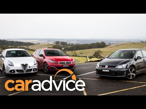 Five-door hot-hatch comparison : Volkswagen Golf GTI v Peugeot 308 GT v Alfa Romeo Giulietta QV