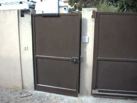 Portillon M Tallique Avec Referme Porte Hydraulique Groom Sodelec Youtube