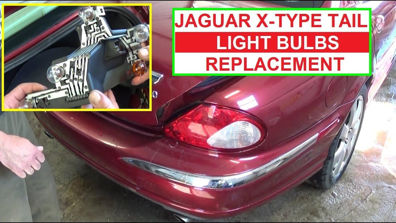 how to replace brake light tail light rear turn signal on jaguar x type [ 1280 x 720 Pixel ]