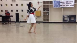 Huab Ci Yaj - Salavan Sib Hlub Hmong Dance at Hiram Johnson HNY   Solo