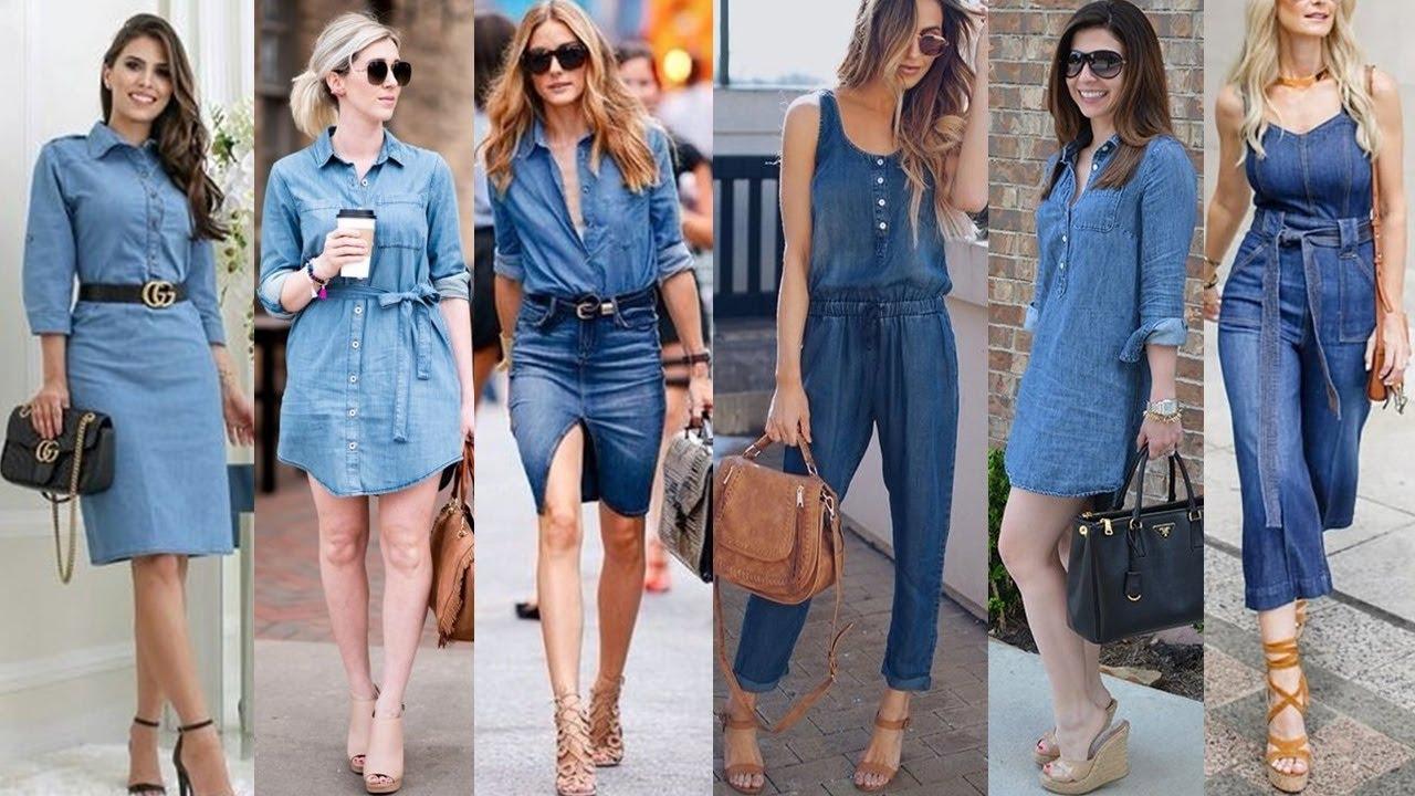 Blusas Vestidos Faldas Y Pantalones De Mezclilla Denim Jeans En Tendencia Para Este 2020 Youtube