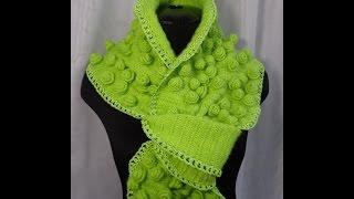 """Как связать шарф """"Розы"""".Процесс вязания крючком.Урок вязания.Crochet scarf."""