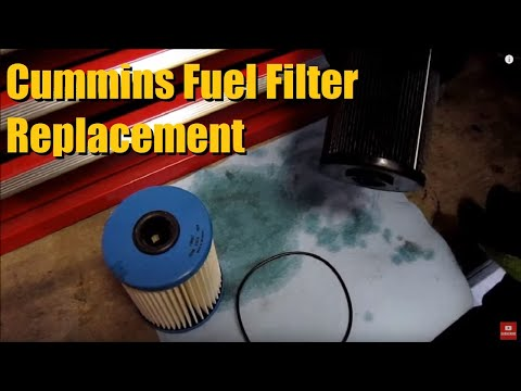 FUEL FILTER replacement in a Dodge Ram Cummins AnthonyJ350 - YouTube