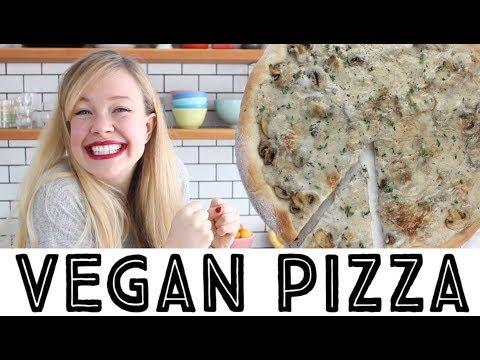 Vegan Pizza • Creamy Coconut Mushroom