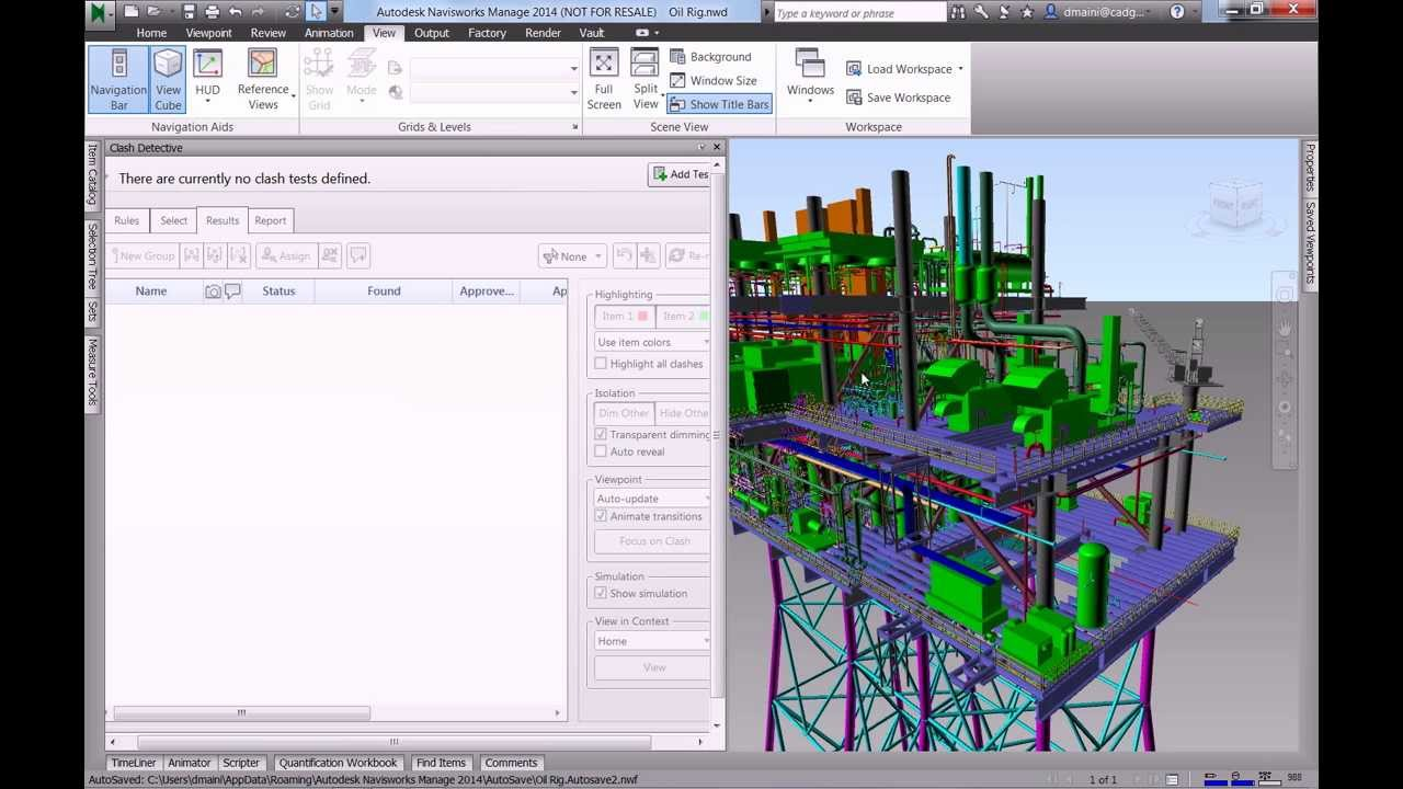 Navisworks Clash Detection Model : Autodesk navisworks clash detection on an oil rig youtube