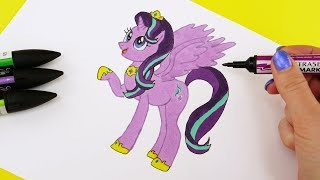 How To Draw Starlight Glimmer Alicorn Princess from My Little Pony