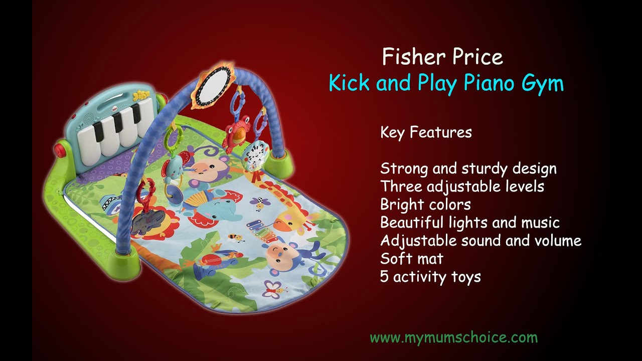 Fisher Price Kick And Play Piano Gym Baby Toys Youtube