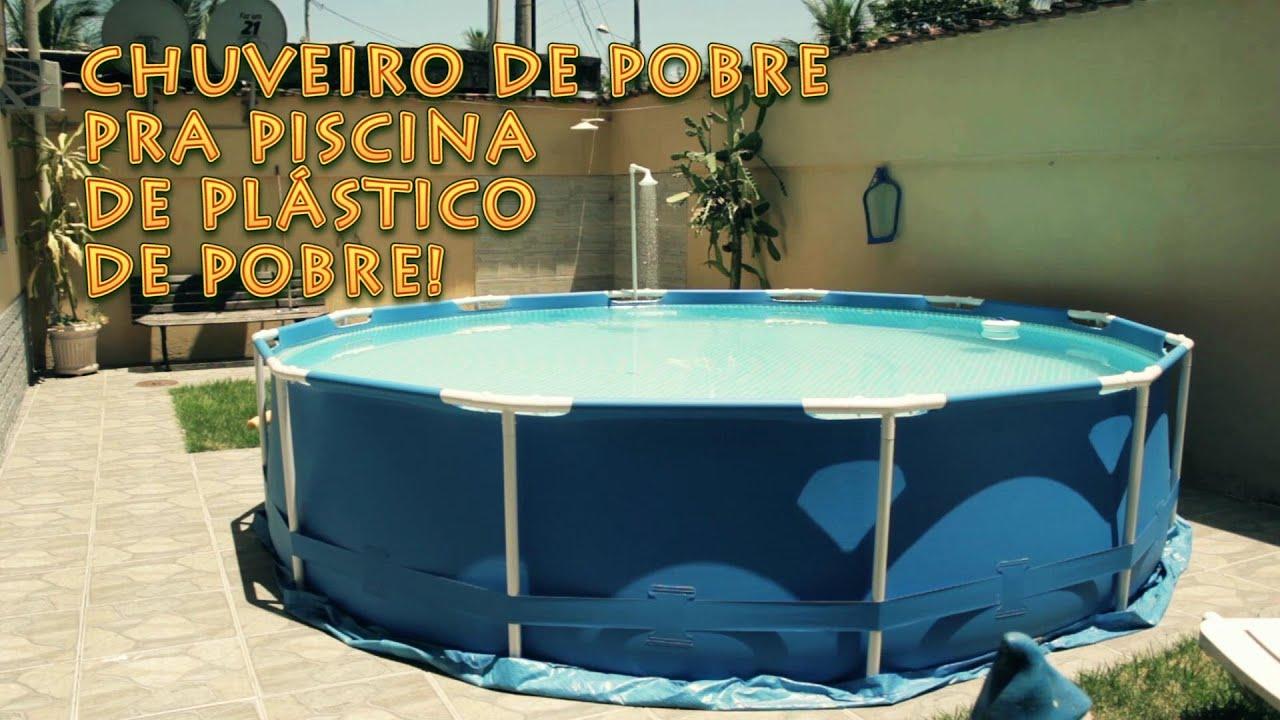 Tutorial chuveiro de pobre pra piscina de pl stico de for Albercas de plastico para ninos