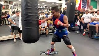 pacquiao-is-ready-for-thurman-wrecks-heavy-bag-with-combos-on-combos-in-training