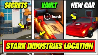 Fortnite STARK INDUSTRIES Gameplay, Secrets & Location (New Fastest Car, Iron Man Vault Chests)
