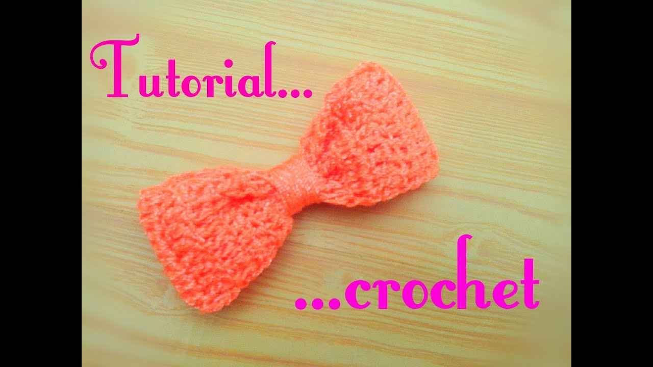 Moño tejido a crochet / lazo a crochet - YouTube