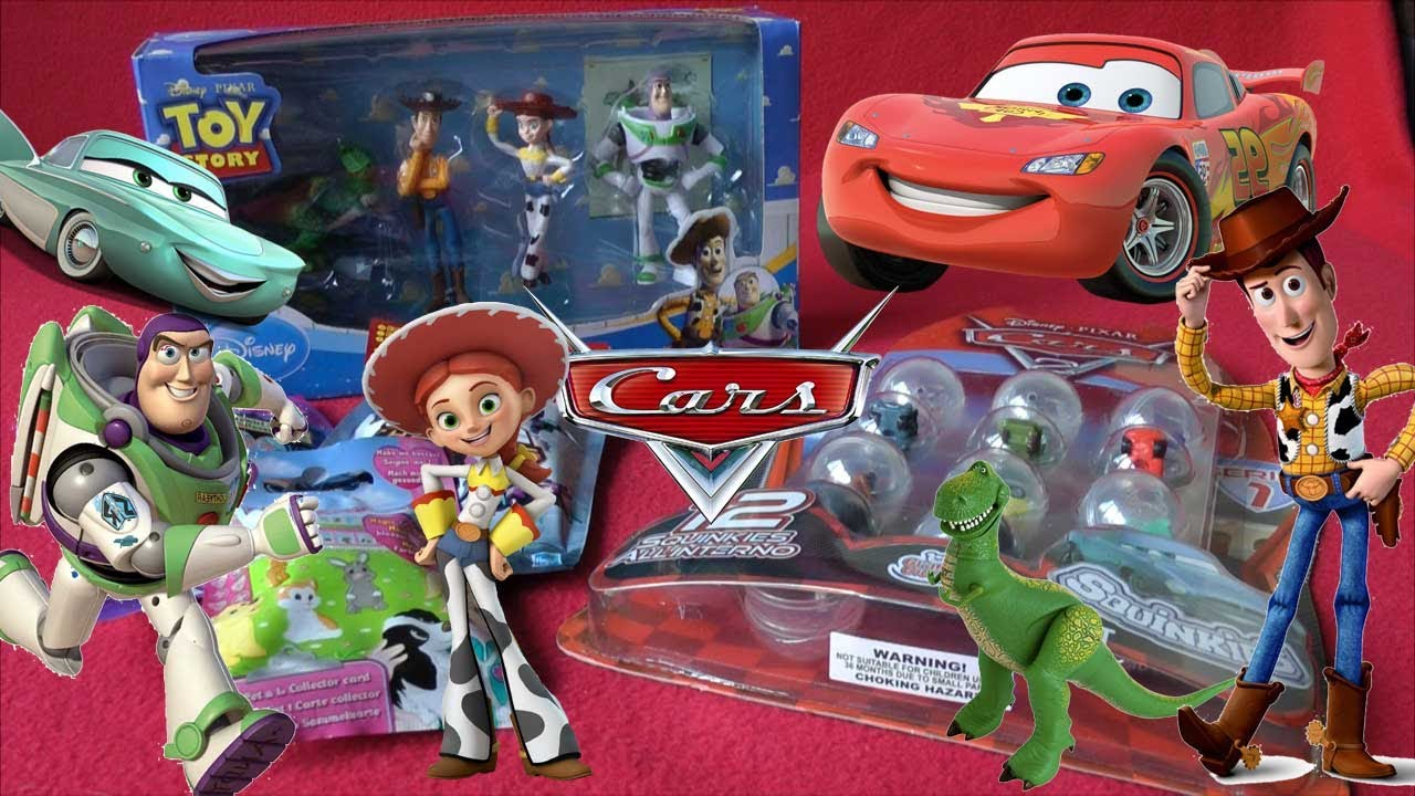 Unboxing Toys!!! Toy Story Buzz Lightyear Woody Jessie Lightening ...