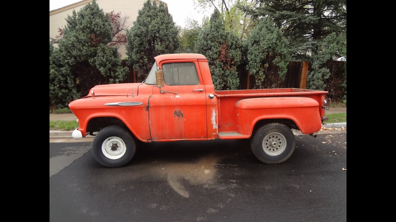 VERY RARE BARN FIND 1957 Chevrolet NAPCO 4x4 1 2 Ton Short Bed Stepside For Sale