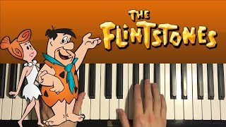 How To Play - The Flintstones Theme Song (PIANO TUTORIAL LESSON)