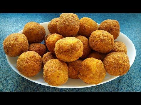 Çıtır Çıtır Patates Topları Tarifi - Potato Balls Recipe - Bizim Terek Yemek Tarifleri