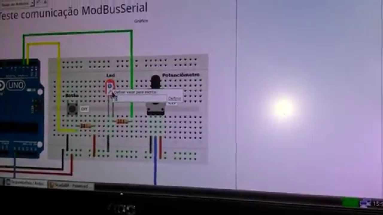Teste ScadaBr e Arduino com Modbus serial