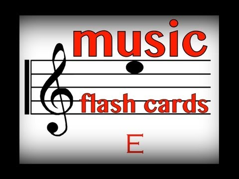 Music Flash Cards: Notes C & E