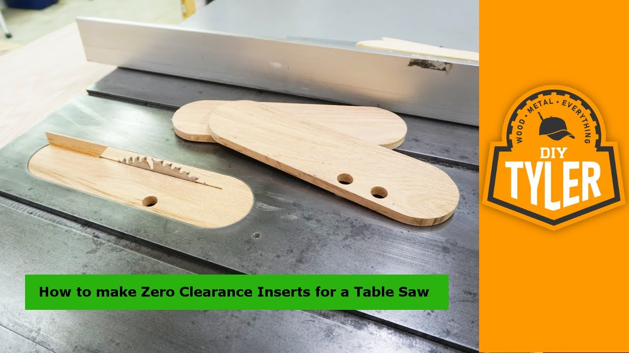 Make zero clearance inserts with a splitter for the table saw 030 youtube Table saw splitter