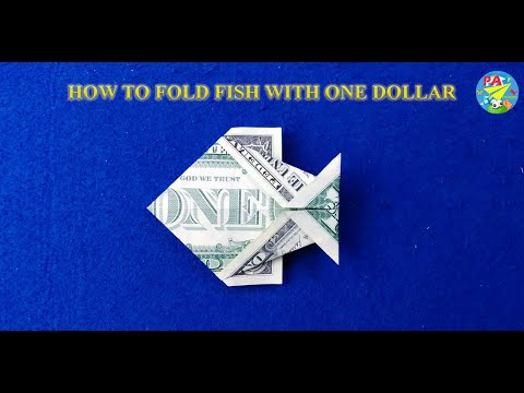 How To Fold Fish With One Dollar|Origami Dollar