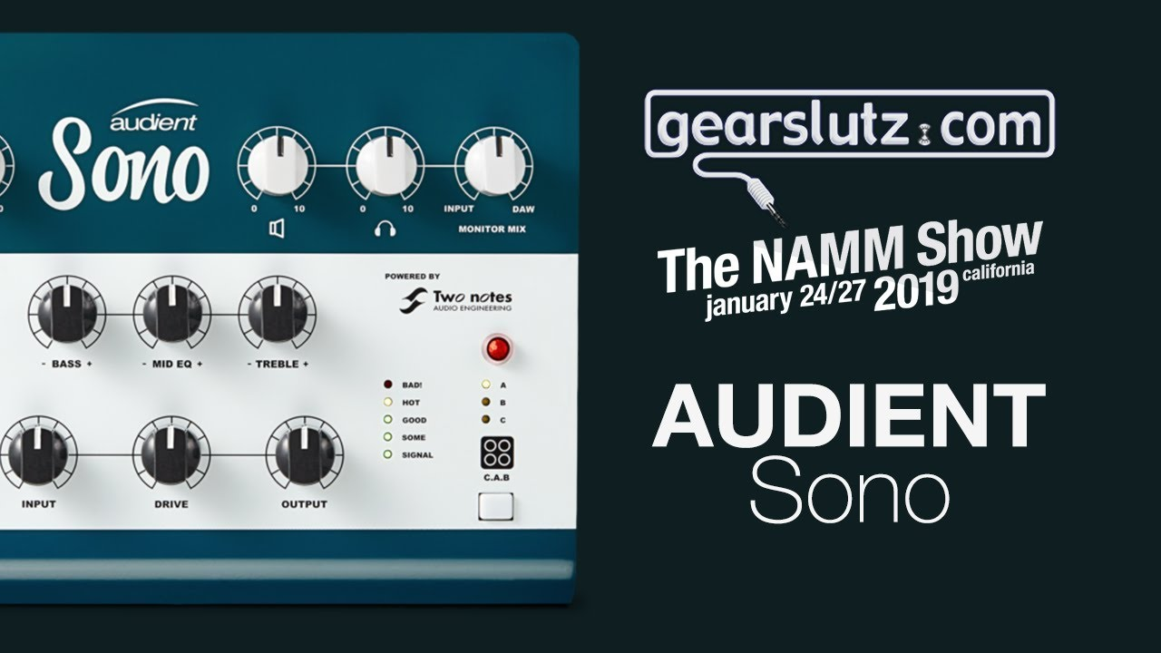 Audient Sono Guitar Recording Interface - Gearslutz @ NAMM 2019