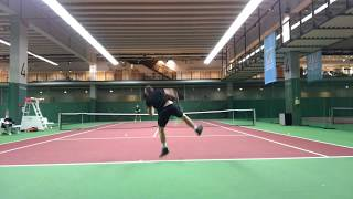 Hitting with the Yonex VCORE 95D (Stan Wawrinka