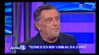 Christian Floris e Andrea Roncato a Uno Mattina per Tulipani di Seta Nera 2013