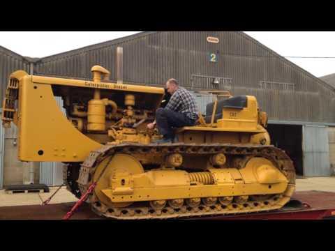 Massive CAT Caterpillar Diesel Engine Start Up
