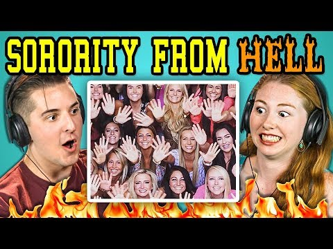 COLLEGE KIDS REACT TO SORORITY FROM HELL! Sorority Chants