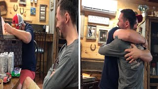 Stepdad Breaks Down After Adoption Surprise From Stepson