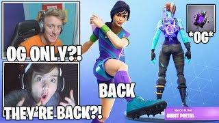 STREAMERS Gets NEW *OG* Purple Ghost Portal Backbling & Sweaty Soccer Skins BACK! (Fortnite Moments)