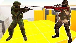 ПЕРЕСТРЕЛКА НА Объекте 2E - Игра Ravenfield для мальчиков  Битва солдатиков в РЕВЕНФИЛД
